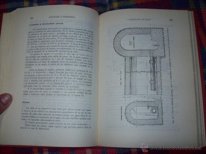 Libros de segunda mano: FONTANERÍA Y SANEAMIENTO.INSTALACIONES EN LOS EDIFICIOS.MARIANO RODRÍGUEZ.4ª EDICIÓN AMPLIADA 1965. - Foto 19 - 43559757