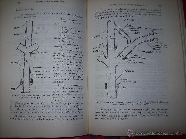Libros de segunda mano: FONTANERÍA Y SANEAMIENTO.INSTALACIONES EN LOS EDIFICIOS.MARIANO RODRÍGUEZ.4ª EDICIÓN AMPLIADA 1965. - Foto 21 - 43559757