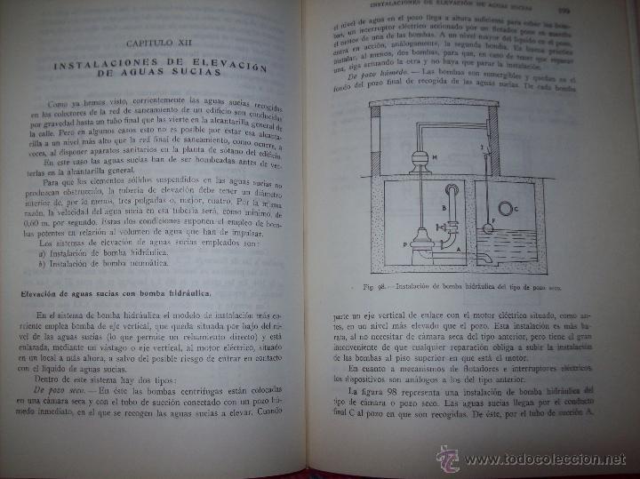 Libros de segunda mano: FONTANERÍA Y SANEAMIENTO.INSTALACIONES EN LOS EDIFICIOS.MARIANO RODRÍGUEZ.4ª EDICIÓN AMPLIADA 1965. - Foto 23 - 43559757