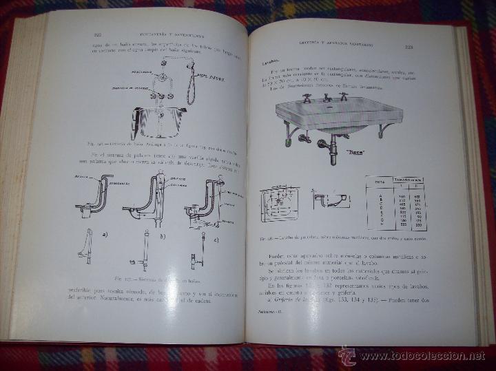Libros de segunda mano: FONTANERÍA Y SANEAMIENTO.INSTALACIONES EN LOS EDIFICIOS.MARIANO RODRÍGUEZ.4ª EDICIÓN AMPLIADA 1965. - Foto 27 - 43559757
