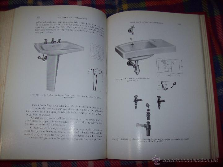 Libros de segunda mano: FONTANERÍA Y SANEAMIENTO.INSTALACIONES EN LOS EDIFICIOS.MARIANO RODRÍGUEZ.4ª EDICIÓN AMPLIADA 1965. - Foto 28 - 43559757