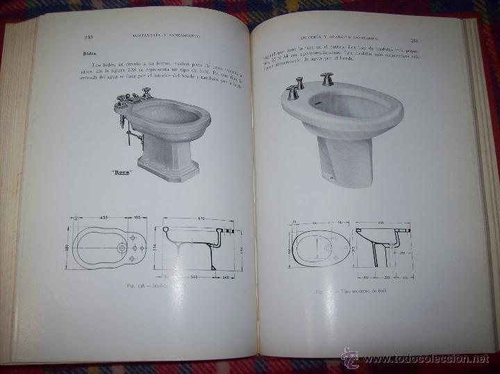 Libros de segunda mano: FONTANERÍA Y SANEAMIENTO.INSTALACIONES EN LOS EDIFICIOS.MARIANO RODRÍGUEZ.4ª EDICIÓN AMPLIADA 1965. - Foto 29 - 43559757