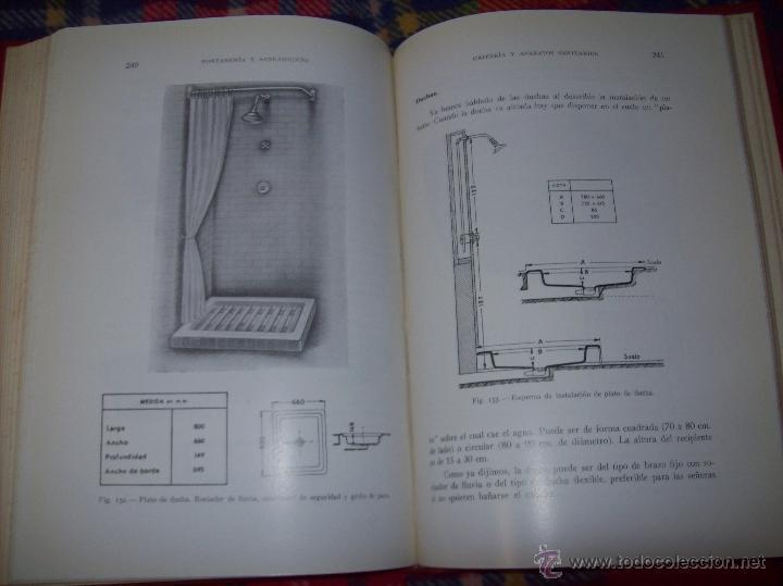 Libros de segunda mano: FONTANERÍA Y SANEAMIENTO.INSTALACIONES EN LOS EDIFICIOS.MARIANO RODRÍGUEZ.4ª EDICIÓN AMPLIADA 1965. - Foto 30 - 43559757