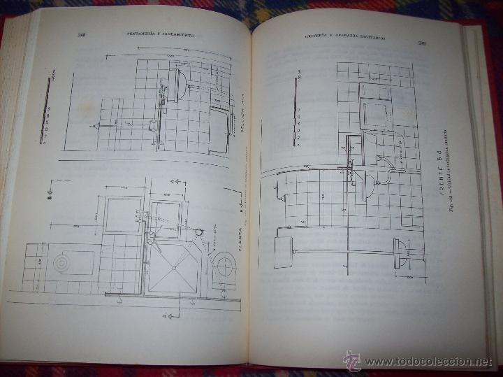 Libros de segunda mano: FONTANERÍA Y SANEAMIENTO.INSTALACIONES EN LOS EDIFICIOS.MARIANO RODRÍGUEZ.4ª EDICIÓN AMPLIADA 1965. - Foto 31 - 43559757