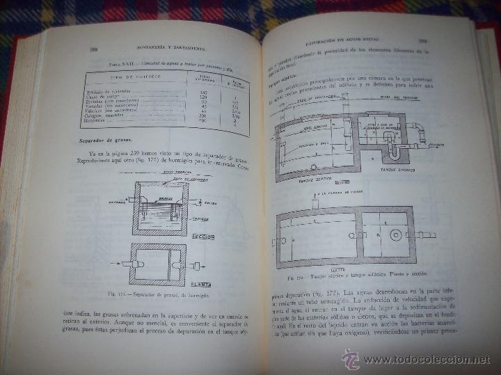 Libros de segunda mano: FONTANERÍA Y SANEAMIENTO.INSTALACIONES EN LOS EDIFICIOS.MARIANO RODRÍGUEZ.4ª EDICIÓN AMPLIADA 1965. - Foto 32 - 43559757