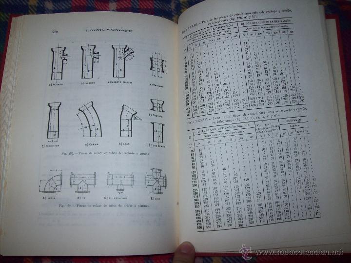 Libros de segunda mano: FONTANERÍA Y SANEAMIENTO.INSTALACIONES EN LOS EDIFICIOS.MARIANO RODRÍGUEZ.4ª EDICIÓN AMPLIADA 1965. - Foto 34 - 43559757