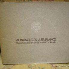 Libros de segunda mano: MONUMENTOS ASTURIANOS RESTAURADOS POR LA CAJA DE AHORROS DE ASTURIAS.. Lote 45773576