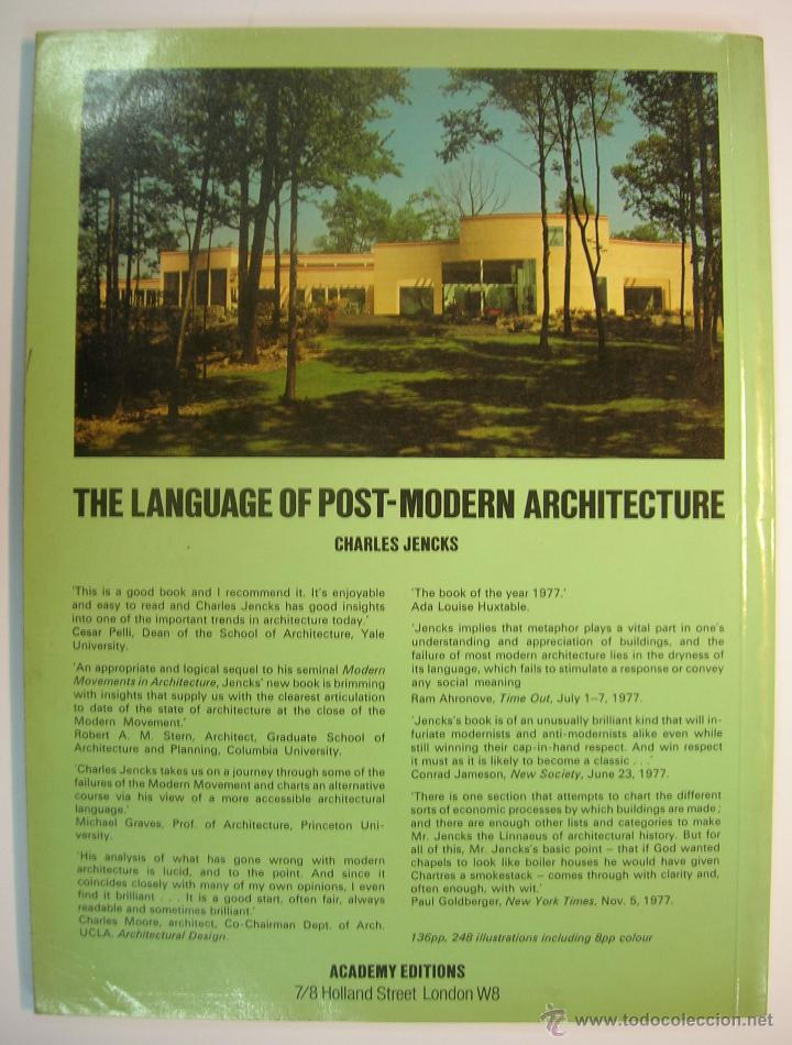 Libros de segunda mano: CHARLES JENKS: THE LANGUAGE OF POST-MODERN ARCHITECTURE. ACADEMY EDITIONS LONDON 1978 (EN INGLES) - Foto 5 - 158891745