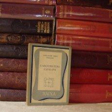 Libros de segunda mano: L'ARQUITECTURA CATALANA . AUTOR : CIRICI PELLICER, ALEXANDRE . Lote 49364076