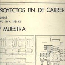 Libros de segunda mano: ESCUELA TÉCNICA SUPERIOR DE ARQUITECTURA DE VALENCIA. PROYECTOS 1977-78 A 1981-82. VALENCIA, 1982.. Lote 50132158