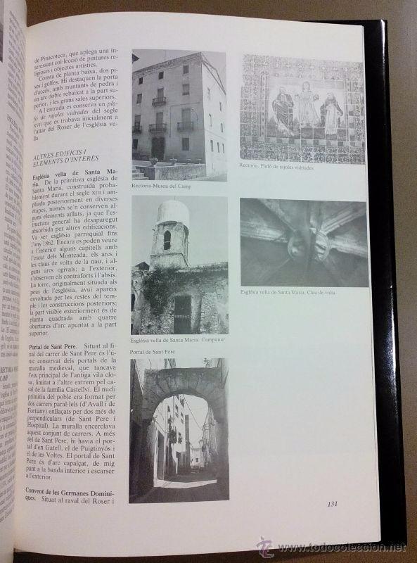 Libros de segunda mano: LAlt Camp. Inventari patrimoni arquitectònic de Catalunya. Generalitat. 1992. Fotografies, mapes... - Foto 3 - 51938245