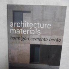Libros de segunda mano - ARCHITECTURE MATERIALS HORMIGON CEMENTO BETAO - 52613760
