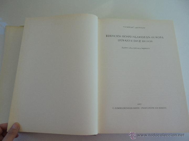 Libros de segunda mano: DANKWART LEISTIKOW. EDIFICIOS HOSPITALARIOS EN EUROPA DURANTE DIEZ SIGLOS. 1967. VER FOTOGRAFIAS. - Foto 9 - 52709295