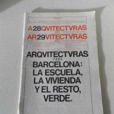 Libros de segunda mano: ARQUITECTURAS BIS Nº 28 / 29 JULIO AGOSTO 1979 . Lote 52921522
