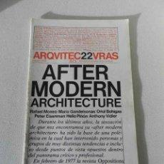 Libros de segunda mano: ARQUITECTURAS BIS Nº 22 MAYO 1978 AFTER MODERN ARCHITECTURE. Lote 294165388