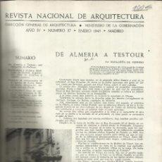 Libros de segunda mano: REVISTA NACIONAL DE ARQUITECTURA. MINISTERIO DE LA GOBERNACIÓN. MADRID. 1945. Lote 52994487