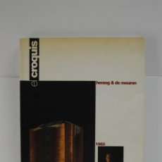 Libros de segunda mano: REVISTA EL CROQUIS N. 60 HERZOG AND DE MEURON 1983 1993 ARQUITECTURA. Lote 187117037