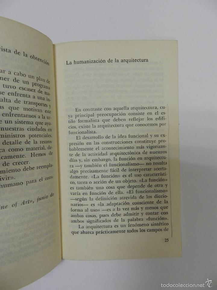 Libros de segunda mano: ALVAR AALTO LA HUMANIZACION DE LA ARQUITECTURA 2 EDICION ARQUITECTURA DESCATALOGADO dificil - Foto 3 - 55235815