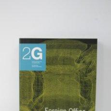 Libros de segunda mano: REVISTA 2G Nº 16 FOREIGN OFFICE ARCHITECTS VV.AA..- GUSTAVO GILI ARQUITECTURA .- DESCATALOGADA. Lote 55304999