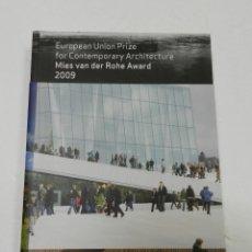 Libros de segunda mano: CATALOGO MIES VAN DER ROHE AWARD 2009 ARQUITECTURA. Lote 55980155