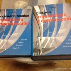 Livros em segunda mão: ARQUITECTURA Y CONSTRUCCIÓN. C.BROTO. MONSA 2001. OBRA COMPLETA 2 TOMOS. DICCIONARIO, GLOSARIO. Lote 56105945