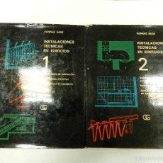 Libros de segunda mano: INSTALACIONES TECNICAS EN EDIFICIOS. 2 VOLÚMENES : KONRAD SAGE 1975 ARQUITECTURA DISEÑO. Lote 56135743