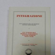 Libros de segunda mano: INTEGRAZIONE : DENN WAHNSINN BRAUCHT METHOD / JAN TURNOVSKY, DIETMAR STEINER, ARQUITECTURA URBANISMO. Lote 56678744