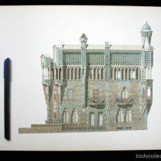 Libros de segunda mano: GAUDI - LAMINAS - DIBUJOS - COLOR - BARCELONA - ARQUITECTURA - 42 X 30 CM. Lote 137206418
