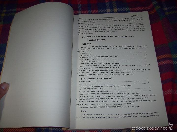 Libros de segunda mano: PROYECTO INDUSTRIAL DE REFORMA PARA DIARIO DE MALLORCA . ANTONIO BENNÀSSAR.1967. ARQUITECTURA. - Foto 3 - 57167433