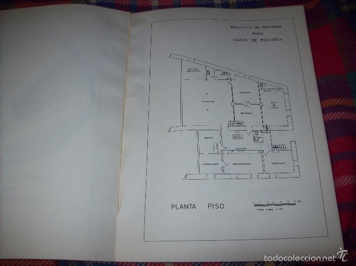 Libros de segunda mano: PROYECTO INDUSTRIAL DE REFORMA PARA DIARIO DE MALLORCA . ANTONIO BENNÀSSAR.1967. ARQUITECTURA. - Foto 21 - 57167433