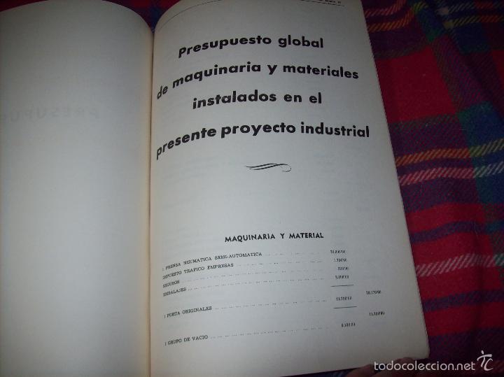 Libros de segunda mano: PROYECTO INDUSTRIAL DE REFORMA PARA DIARIO DE MALLORCA . ANTONIO BENNÀSSAR.1967. ARQUITECTURA. - Foto 42 - 57167433