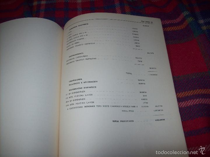 Libros de segunda mano: PROYECTO INDUSTRIAL DE REFORMA PARA DIARIO DE MALLORCA . ANTONIO BENNÀSSAR.1967. ARQUITECTURA. - Foto 44 - 57167433