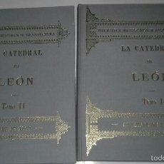 Libros de segunda mano: CATEDRAL DE LEON EN DOS TOMOS , FORMATO 31X25 CM. 221 Y 244 PAGINAS. Lote 57337805