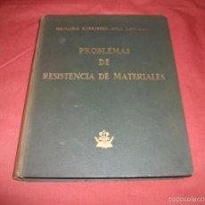 Libros de segunda mano: PROBLEMAS DE RESISTENCIA DE MATERIALES - FERNANDO RODRÍGUEZ AVIAL AZCUNAGA. Lote 57561536