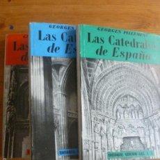 Libros de segunda mano: LAS CATEDRALES DE ESPAÑA. GEORGES PILLEMENT. GUSTAVO GILI. 1953 3 VOL. . Lote 57676139