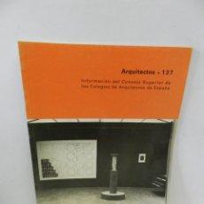 Libros de segunda mano: REVISTA ARQUITECTOS 137 ARQUITECTURA URBANISMO. Lote 57981610