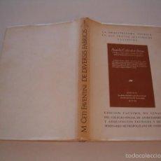 Libros de segunda mano: M. CETIO FAVENTINO. LAS DIVERSAS ESTRUCTURAS DEL ARTE ARQUITECTÓNICO.EDICIÓN FACSÍMIL. RM75595. . Lote 58006182