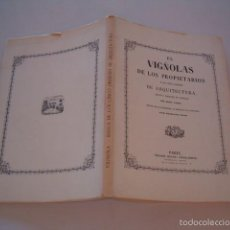 Libros de segunda mano: GIOCOMO BAROZZIO DE VIGNOLA. REGLA DE LOS CINCO ÓRDENES DE ARQUITECTURA. EDICIÓN FACSÍMIL. RM75596.. Lote 58006213