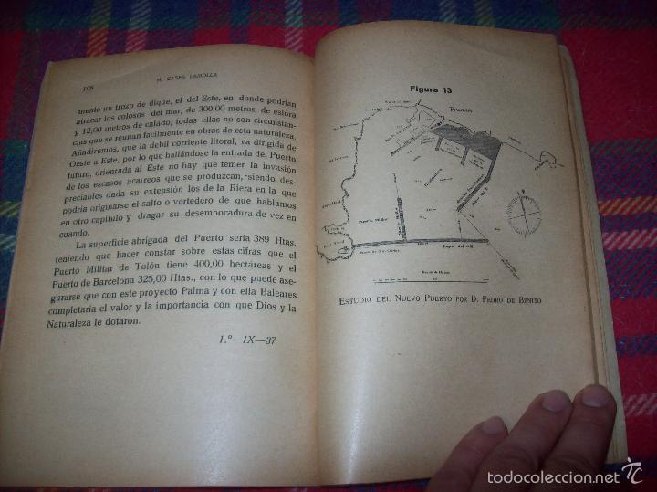 NUEVO PUERTO DE PALMA.ESBOZO DE ESTUDIO SOBRE SUS ANTECEDENTES HISTÓRICOS Y TÉCNICOS.1937. MALLORCA (Libros de Segunda Mano - Bellas artes, ocio y coleccionismo - Arquitectura)