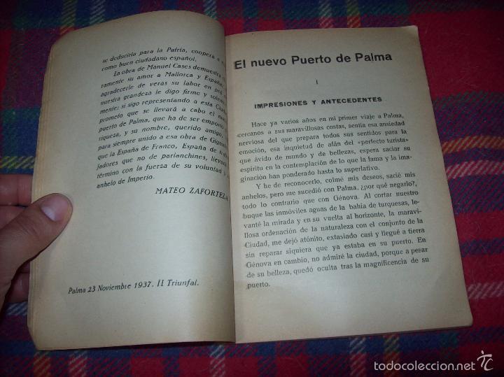 Libros de segunda mano: NUEVO PUERTO DE PALMA.ESBOZO DE ESTUDIO SOBRE SUS ANTECEDENTES HISTÓRICOS Y TÉCNICOS.1937. MALLORCA - Foto 6 - 58286287