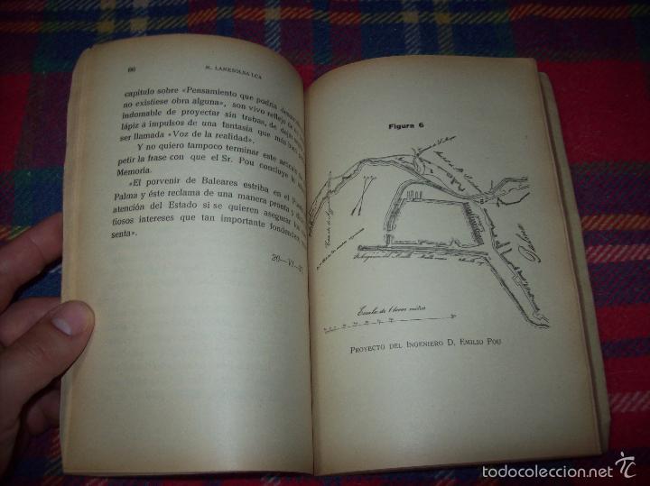 Libros de segunda mano: NUEVO PUERTO DE PALMA.ESBOZO DE ESTUDIO SOBRE SUS ANTECEDENTES HISTÓRICOS Y TÉCNICOS.1937. MALLORCA - Foto 13 - 58286287