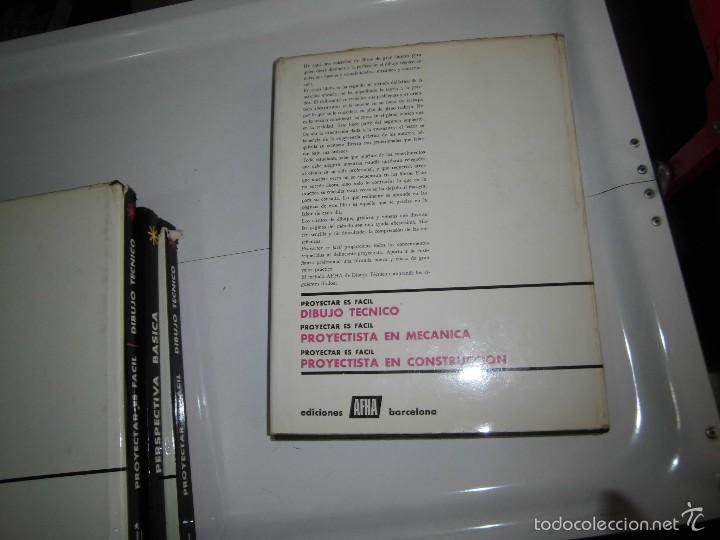 Libros de segunda mano: PROYECTAR ES FACIL 3 TOMOS DIBUJO TECNICO Y TOMO DE PERSPECTIVA BASICA.EDICIONES AFHA 1966-1970 - Foto 3 - 58340747