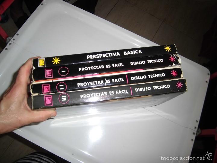 Libros de segunda mano: PROYECTAR ES FACIL 3 TOMOS DIBUJO TECNICO Y TOMO DE PERSPECTIVA BASICA.EDICIONES AFHA 1966-1970 - Foto 5 - 58340747