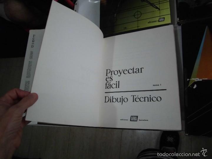 Libros de segunda mano: PROYECTAR ES FACIL 3 TOMOS DIBUJO TECNICO Y TOMO DE PERSPECTIVA BASICA.EDICIONES AFHA 1966-1970 - Foto 8 - 58340747