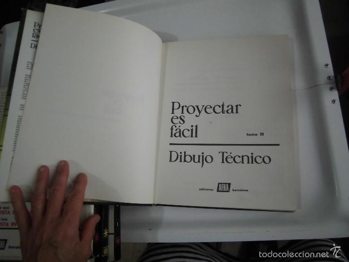 Libros de segunda mano: PROYECTAR ES FACIL 3 TOMOS DIBUJO TECNICO Y TOMO DE PERSPECTIVA BASICA.EDICIONES AFHA 1966-1970 - Foto 35 - 58340747