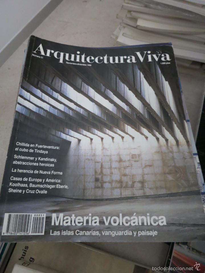 revista arquitectura viva numero 51 materia volcnica libros de segunda mano bellas artes - Arquitecturaviva