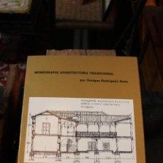 Libros de segunda mano: MONOGRAFIA ARQUITECTURA TRADICIONAL-ARQUITECTURA HISTORICA DE TENERIFE, ENRIQUE RGUEZ SANZ.CANARIAS . Lote 58580234