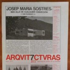 Libros de segunda mano: ARQUITECTURAS BIS, N.7. MAYO 1975.. Lote 58650218