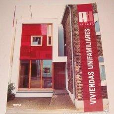 Libros de segunda mano: VV. AA. VIVIENDAS UNIFAMILIARES. RM75967. . Lote 58687303