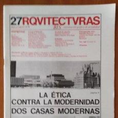 Libros de segunda mano: ARQUITECTURAS BIS, N.27. MARZO-ABRIL 1979.. Lote 58708677